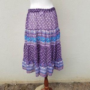 Byer Skirts - Vintage Byer boho tiered skirt